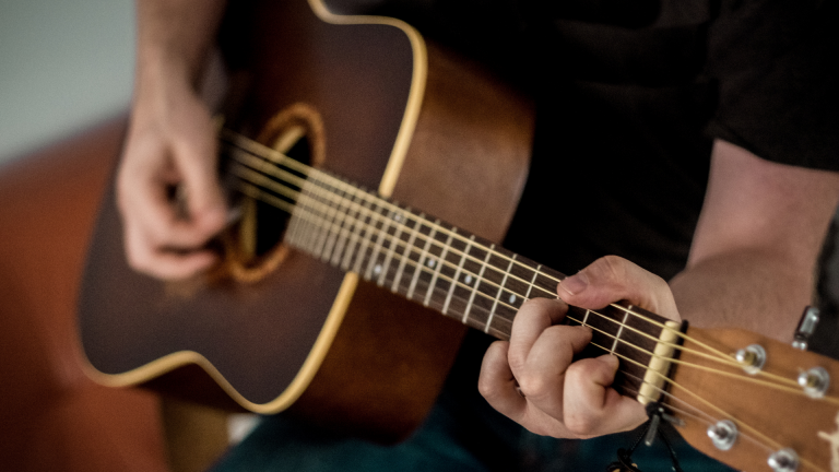Wide Neck Acoustic Guitar