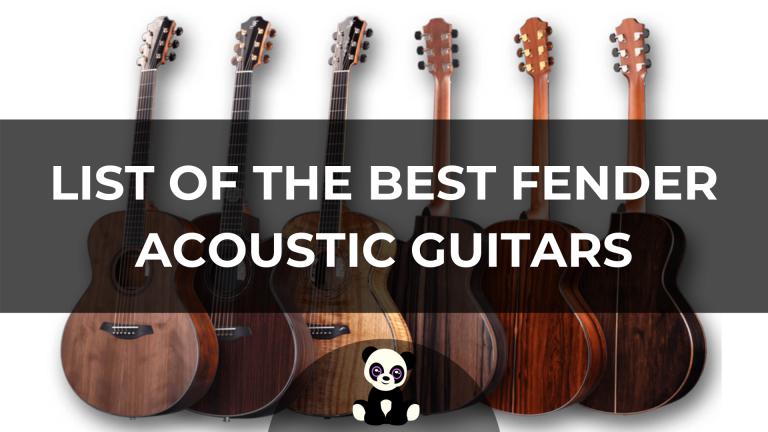 best fender acoustic guitars